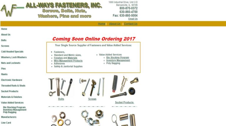 All-Ways Fasteners, Inc.