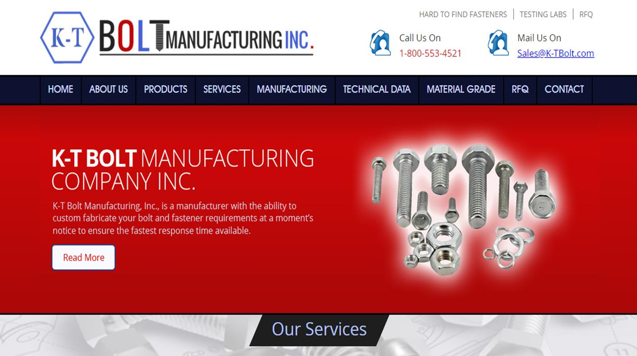 K-T Bolt Manufacturing, Inc.