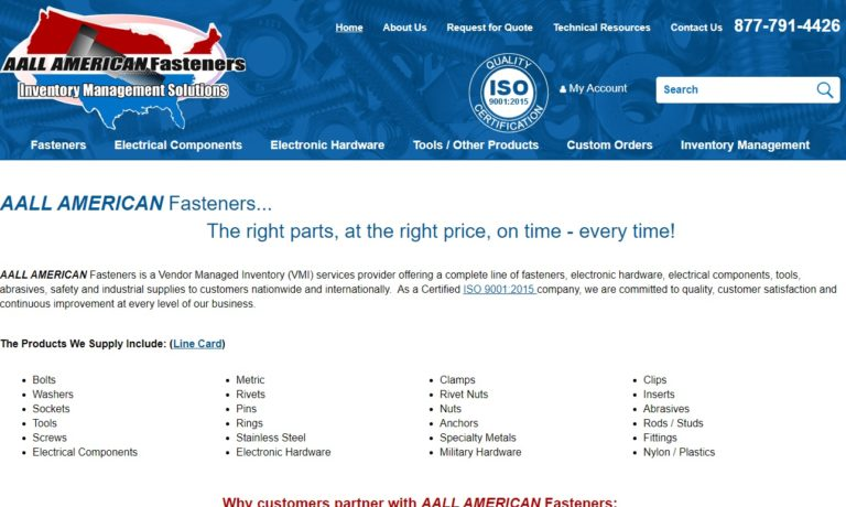 AALL AMERICAN Fasteners