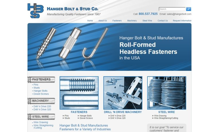 Hanger Bolt & Stud Co.